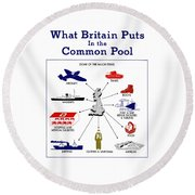 What Britain Puts In The Common Pool Round Beach Towel
