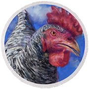 What Do You Want Round Beach Towel by Billie Colson
