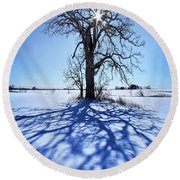 Round Beach Towel featuring the photograph What I Am, What I Was, What I Will Be by Phil Koch