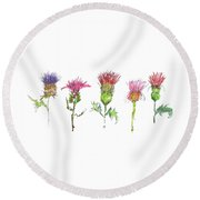 What Is It About A Thistle Fl006 Round Beach Towel