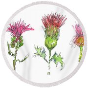 What Is It About A Thistle Round Beach Towel