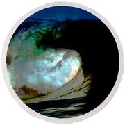 What Is It Fantasy Fusion Accidental Discovery Art  Psychedelic Round Beach Towel