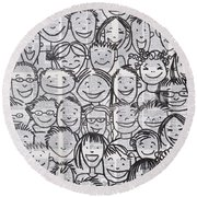 What Matters The Most Round Beach Towel