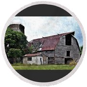 What Once Was  Round Beach Towel by Christy Ricafrente