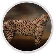 What You Imagine - Cheetah Art Round Beach Towel