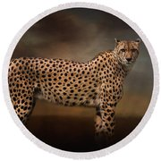 What You Imagine - Cheetah Art Round Beach Towel