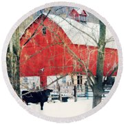 Round Beach Towel featuring the photograph Whatcha Looking At by Julie Hamilton