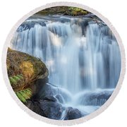 Whatcome Falls Round Beach Towel