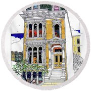 What's In Your Window? Round Beach Towel