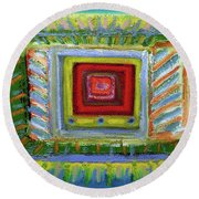 What's On Tv? Round Beach Towel by Gerhardt Isringhaus
