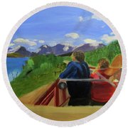 What's Out There? Round Beach Towel