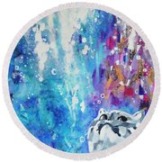 What's Up? Round Beach Towel by Betty M M Wong