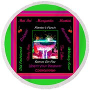 What's Your Pleasure Round Beach Towel by Marian Bell