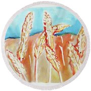 Wheat Field Round Beach Towel