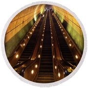 Wheaton Escalator Round Beach Towel