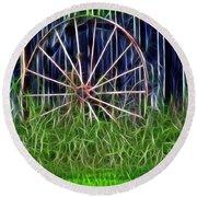 Wheel Of Fortune Round Beach Towel by EricaMaxine  Price