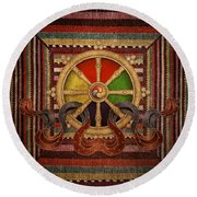 Wheel Of The Dharma Round Beach Towel