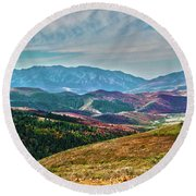 Wheeler Peak Round Beach Towel