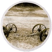 Wheels Of The Past Round Beach Towel
