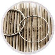 Wheels On Bamboo Round Beach Towel