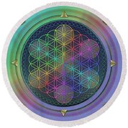Round Beach Towel featuring the digital art Wheels Within Wheels by Vincent Autenrieb