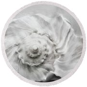 Round Beach Towel featuring the photograph Whelk In Black And White by Benanne Stiens