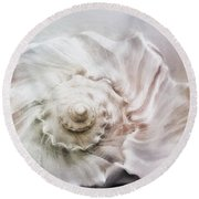 Round Beach Towel featuring the photograph Whelk Shell by Benanne Stiens