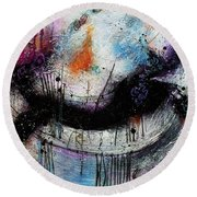 When Days Go By Round Beach Towel