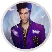 When Doves Cry Round Beach Towel