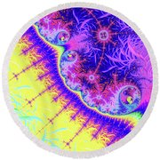 When I Think Of You Round Beach Towel