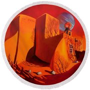 When Jupiter Aligns With Mars Round Beach Towel by Art West