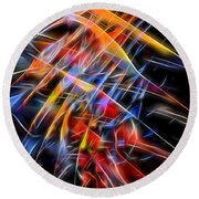 Round Beach Towel featuring the digital art When Prayer And Worship Embrace by Margie Chapman