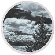 When Silence Speaks For Love, She Has Much To Say, Wrote Richard Garnett.  Round Beach Towel