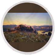 When The Land Belonged To God Round Beach Towel