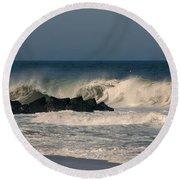 When The Ocean Speaks - Jersey Shore Round Beach Towel
