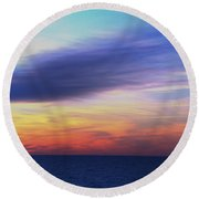 When The Sun Kissed The Sky  Round Beach Towel