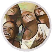 When We Were Boys Round Beach Towel by Wayne Pascall
