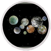 When Worlds Collide Round Beach Towel by Tony Murray