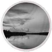 When You Look At The World What Is It That You See Round Beach Towel by Yvette Van Teeffelen