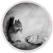 When You Lose Your Nuts There Is Always Chips Round Beach Towel by Bob Orsillo