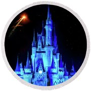 When You Wish Upon A Star Round Beach Towel
