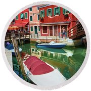 Where Did You Park The Boat? Round Beach Towel