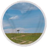 Where Does It Lead To Round Beach Towel