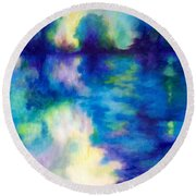 Where Dreams Reside Round Beach Towel