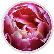 Where Flowers Bloom Round Beach Towel by Trina Ansel
