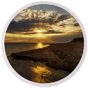 Round Beach Towel featuring the photograph Where Freshwater Joins Saltwater by Chris Bordeleau