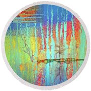 Round Beach Towel featuring the photograph Where Have All The Trees Gone? by Tara Turner