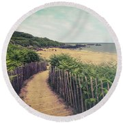 Where Memories Are Made  Round Beach Towel