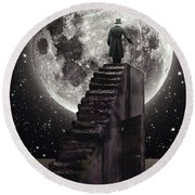 Where The Moon Rise Round Beach Towel