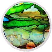 Where The Rivers Flow.. Round Beach Towel